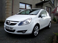 2010 Vauxhall Corsa 1.2 SXi, 3dr, white, very low miles, not fiesta clio 207 polo yaris