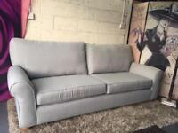New Furniture Village Park Avenue 4 Seater Fabric Sofa in Salta Marmor