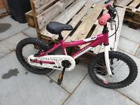 Pink Girls Kid Bike 12 inch wheels. Good for 4-5 year old