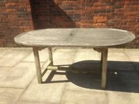 Teak Garden Table Seats 6 - Very Well Made Solid Teak Wood Garden or Patio Table