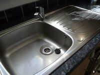 Stainless steel, inset sink