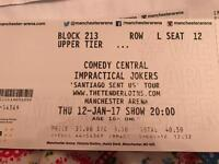 Impractical jokers ticket for17th. January 2017