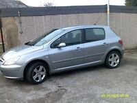 DIESEL 2005 peugeot 307s hdi long mot good condition