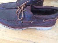 Dark brown timberland size 10 shoes