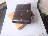 Filofax Pocket Classic, Italian leather, Chocolate brown - Unused