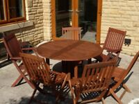 Garden/Patio table and six chairs