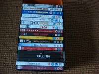 31 DVDs: The Killing Trilogy + The Bridge (Seasons 1 and 2) + 14 other DVDs