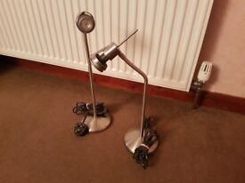Stainless Steel Lamps x2