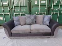 NEW DFS Amelle 3 Seater Sofa Grey Black DELIVERY AVAILABLE