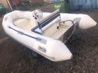 Avon 4 Metre Rib with Console & Bench Seat on Snipe Roller Trailer (No Outboard)
