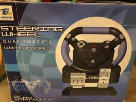 Sorry PlayStation steering wheel