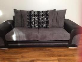Scs fabric sofas x2