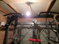 Heavy duty power rack with pulley system