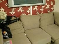 """L"" sofa good condition"