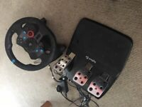 Logitech wheel and peddles for ps4