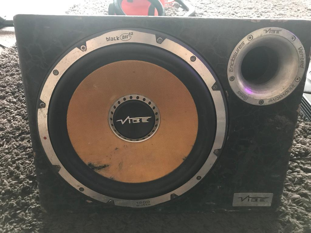 Vibe Space 15 1200 Watt Rms Stereo Kit 8 Gauge Amplifier Wiring 1500w Audio Images 12 Inch Subwoofer Withbuilt In Amp 1600 Watts