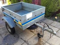 Trailer Fully Galvanised 5Ft x 3Ft, Spare Wheel, Tailgate etc - Excellent Quality Trailer
