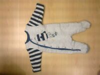 Padded sleepsuits/sleeping bags 0-3 and 3-6 months Mothercare