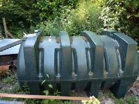 1800 litre single skin green heating oil tank
