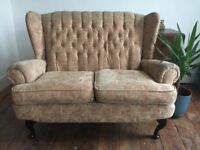 Queen Anne vintage 2 seater sofa