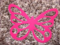 Brand new flocked butterfly scarf hanger. Pink. £3. Torquay.
