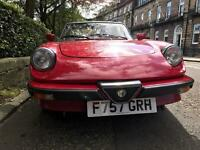 Alfa Spider 2litre with hard top