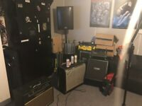 Music Producers, Bands, Songwriters, Drummers: Studio/Rehearsal Room Share With Recording Gear