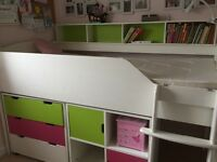 Bargain High quality mid sleeper + furniture aspace bunk bed