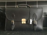 Glenroyal Leather Briefcase -Black