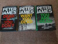 Peter James Crime Novels (Hardback)