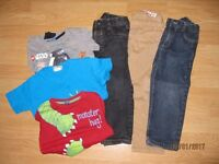 Boys bundle of clothes for 3-4 year old. 6 items in total. 3 prs trousers + 3 tops