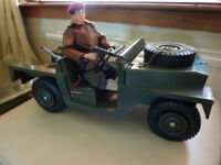 Vintage Action Man Land Rover & Talking 1964 Action Man Palitoy 4x4 jeep dinky