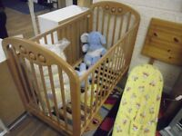 wooden cot only £25