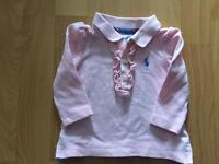 Baby girl Ralph Lauren long sleeved top