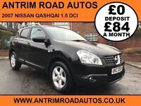 2007 NISSAN QASHQAI VISIA 1.5 DCI 2WD ** FULL HISTORY ** FINANCE AVAILABLE WITH NO DEPOSIT **