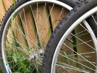 """Rear and Front 26"""" Mountain Bike Wheels and Tyres"""
