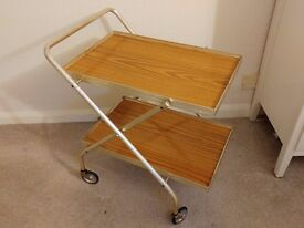 Vintage Retro Folding Drinks Trolley Hostess Tea Trolley ~ lovely condition