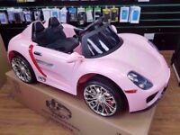 PINK PORSCHE KIDS ELECTRIC RIDE ON CAR