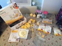 Medela Swing Electric Breast Pump, Hakaa Pump & Extras