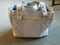 Ladies Golf Hold-all never been used white leather .TaylorMade