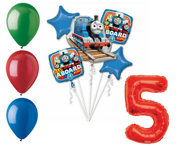 Thomas and Friends Balloon Bouquet 5th Birthday Party Supplies Decorations Train - Thomas And Friends Balloons