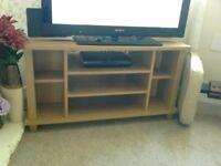 Light oak tv unit