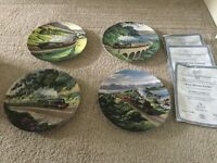 4 Royal Doutlan limited edition Train Plates by Norman Elford