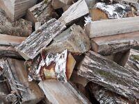 Seasoned hardwood logs. Firewood. Ready to