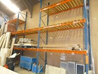 Warehouse industrial racking heavy duty 10 bays each with three shelves and floor space underneath
