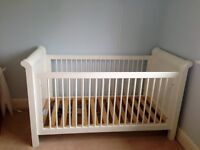 Solid Wood Cot Bed White