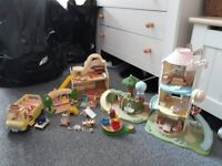 SYLVANIAN FAMILIES LARGE BUNDLE - playsets, figures and accessories