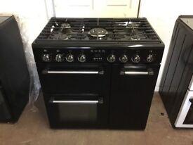 Smeg range dual fuel gas cooker 90cm BM93BL black FSD 3 months warranty free local delivery !!!!!!!