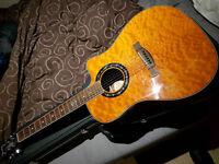 Fender 300CE Tonebucket Electro Acoustic Guitar & New Hiscox Case - Excellent Condition