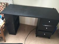 Small Black wooden Desk